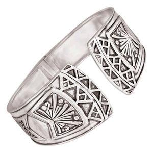 "Silpada Willow Hinge Cuff Bracelet B3322 2 1/2"""